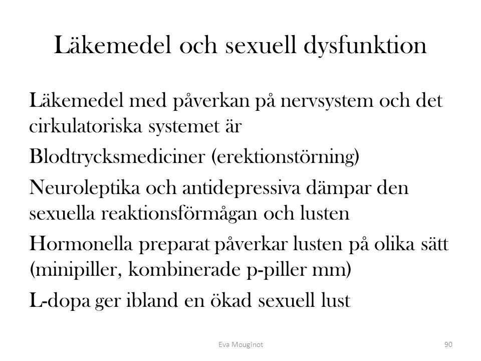 Läkemedel och sexuell dysfunktion