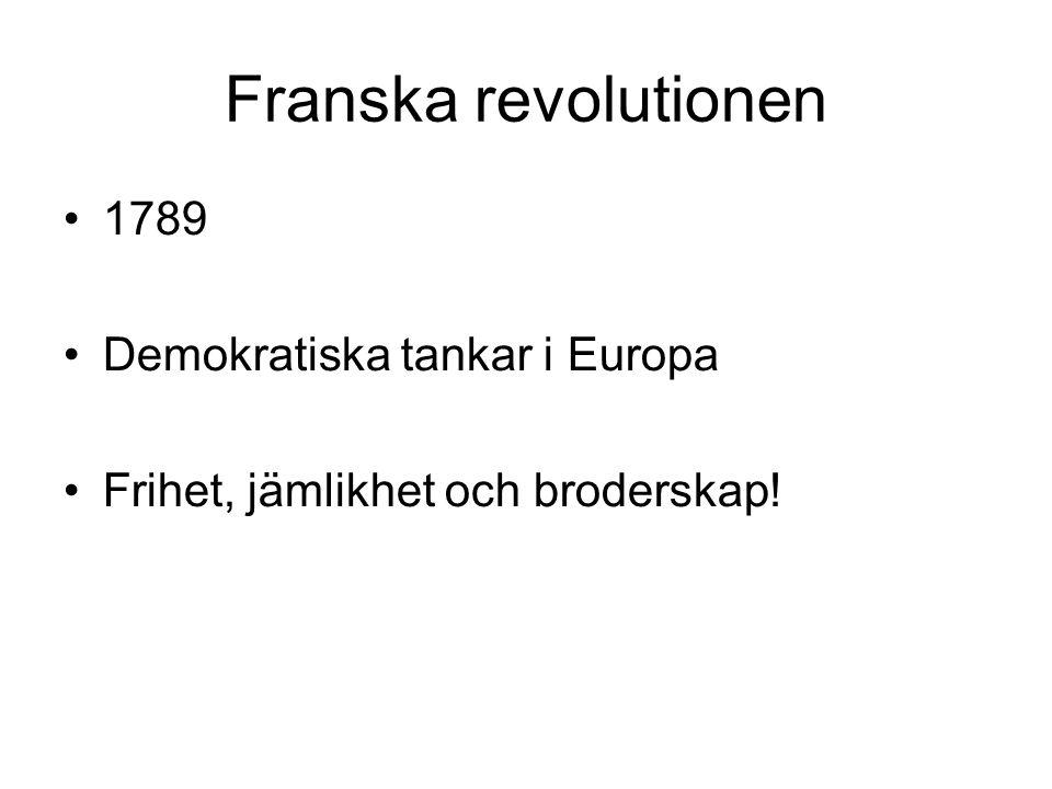 Franska revolutionen 1789 Demokratiska tankar i Europa