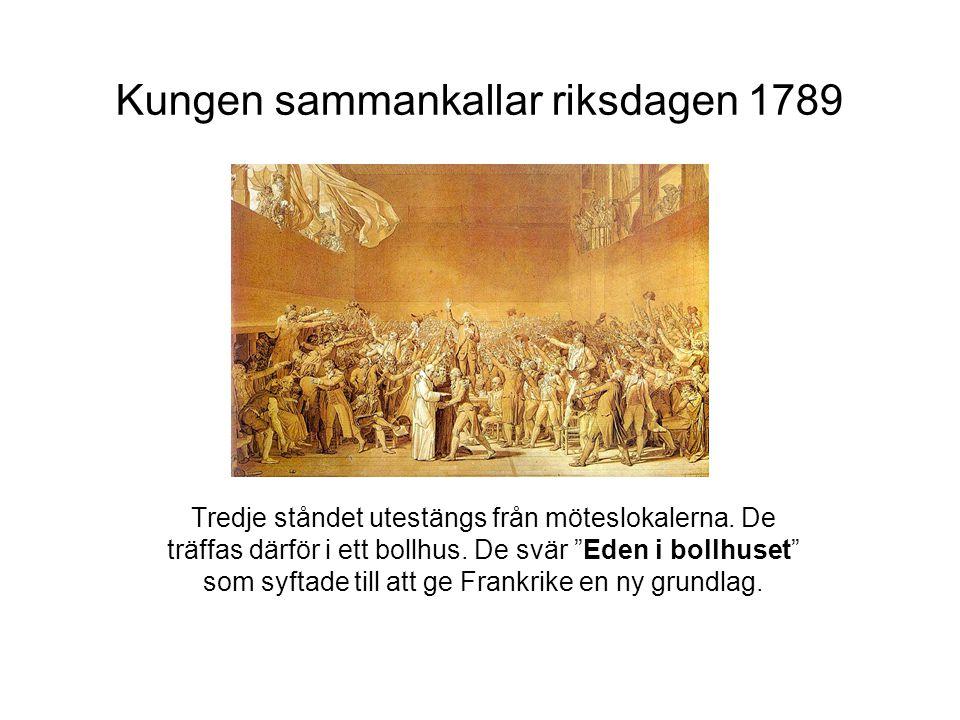 Kungen sammankallar riksdagen 1789