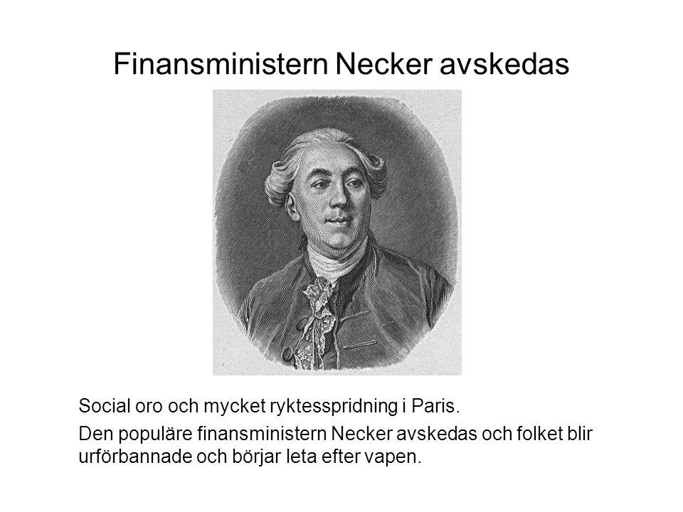 Finansministern Necker avskedas