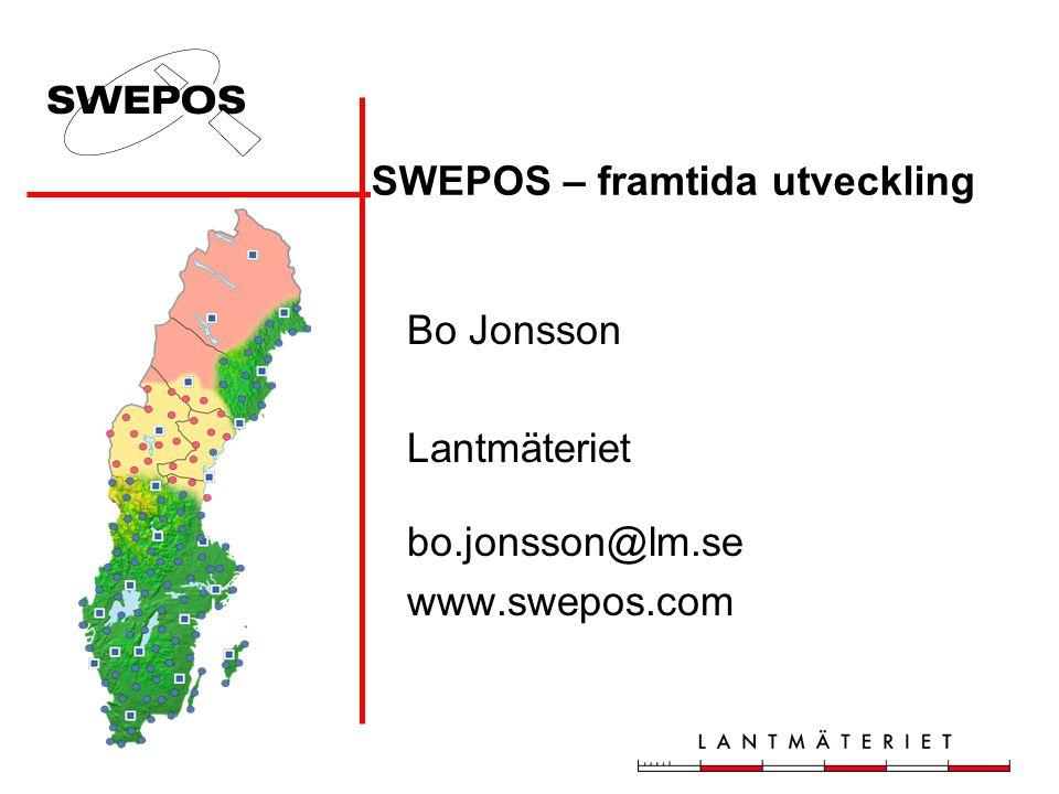 SWEPOS – framtida utveckling