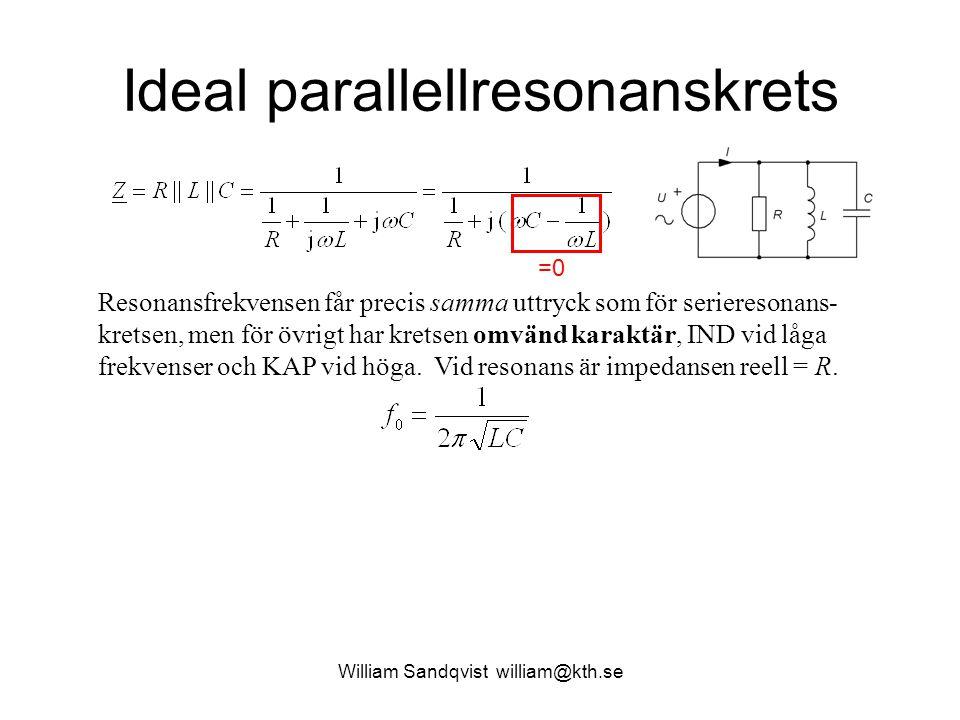 Ideal parallellresonanskrets