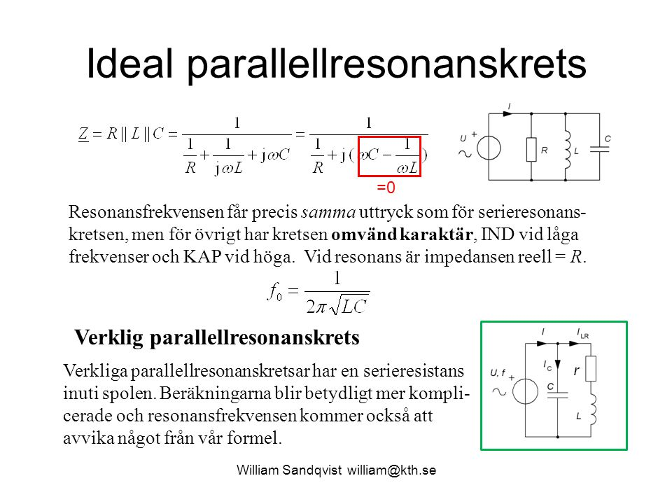 Ideal parallellresonanskrets