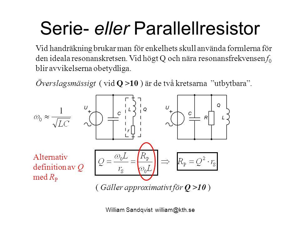 Serie- eller Parallellresistor