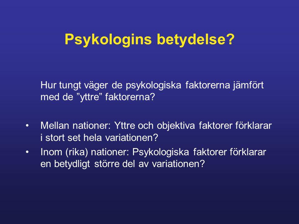 Psykologins betydelse