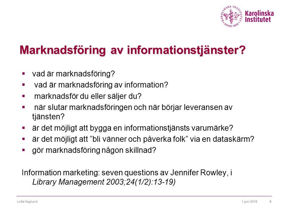 Marknadsföring av informationstjänster