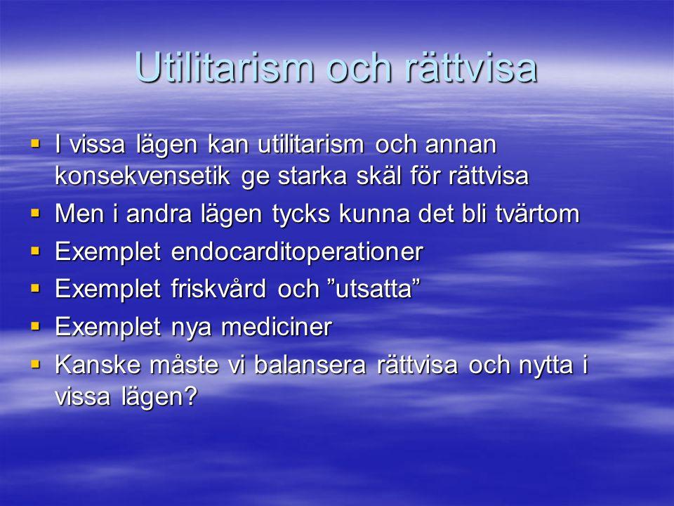 Utilitarism och rättvisa