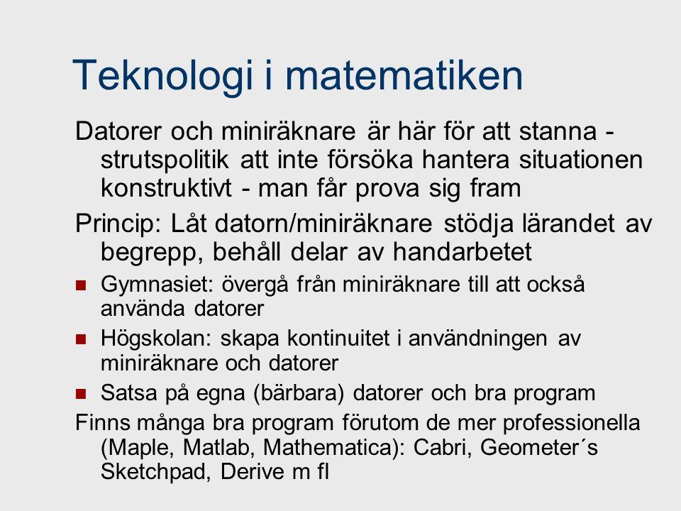 Teknologi i matematiken