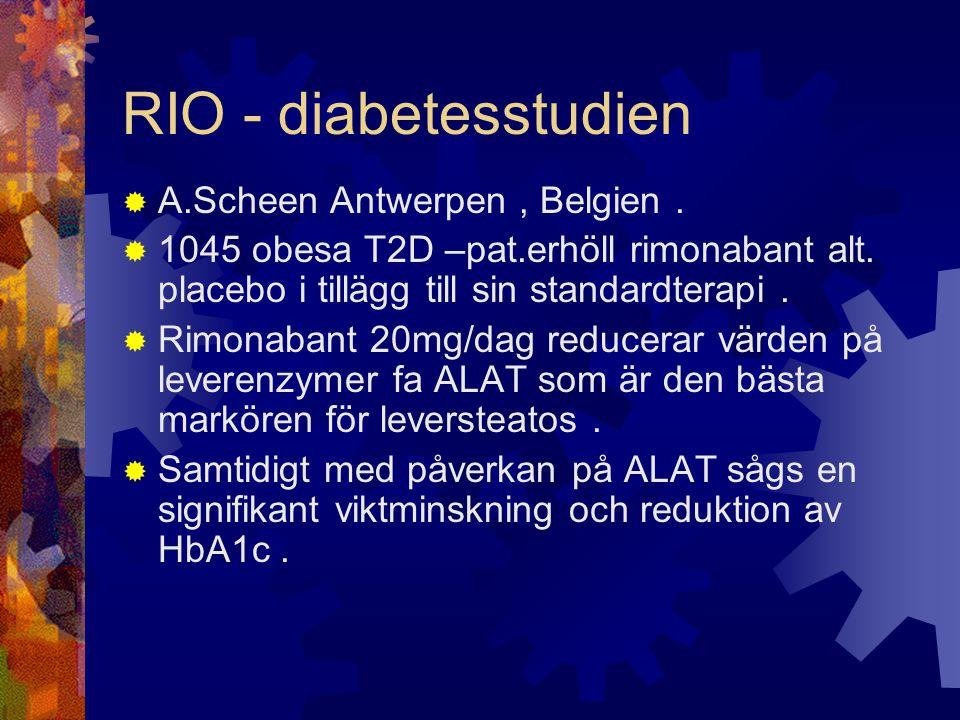 RIO - diabetesstudien A.Scheen Antwerpen , Belgien .