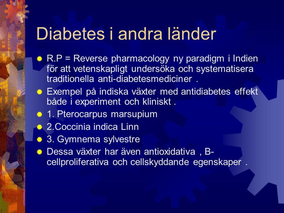 Diabetes i andra länder