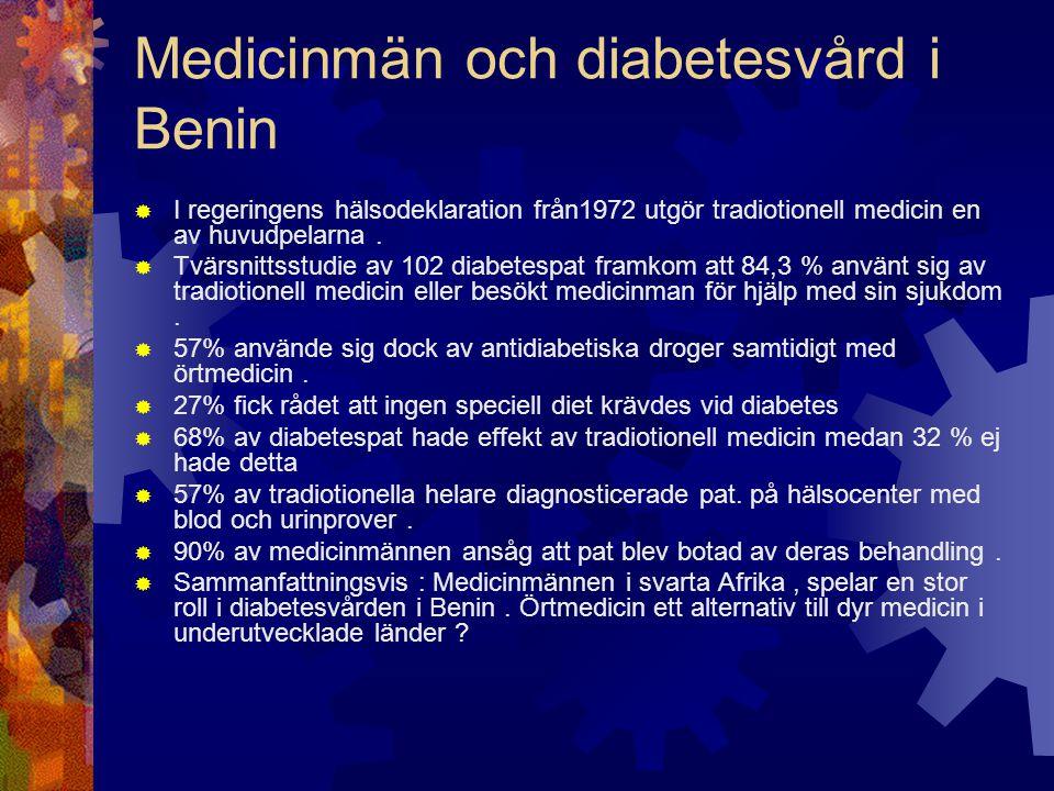Medicinmän och diabetesvård i Benin