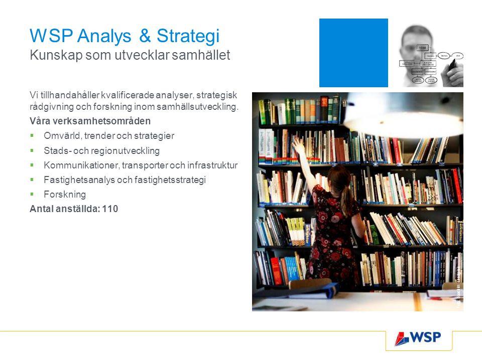 WSP Analys & Strategi Kunskap som utvecklar samhället