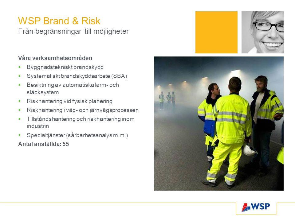 WSP Brand & Risk Från begränsningar till möjligheter