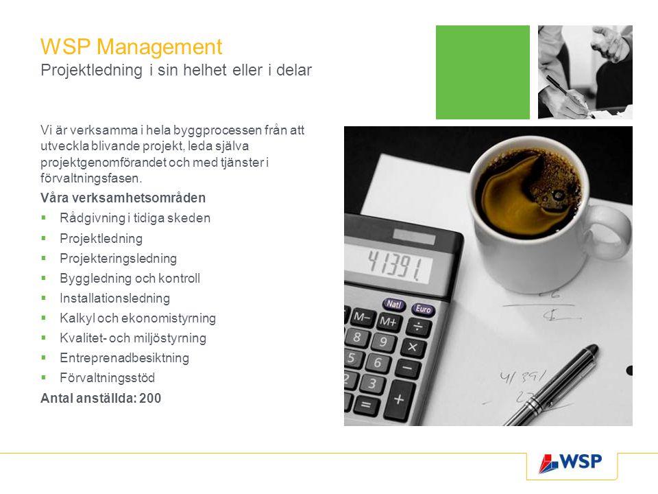 WSP Management Projektledning i sin helhet eller i delar