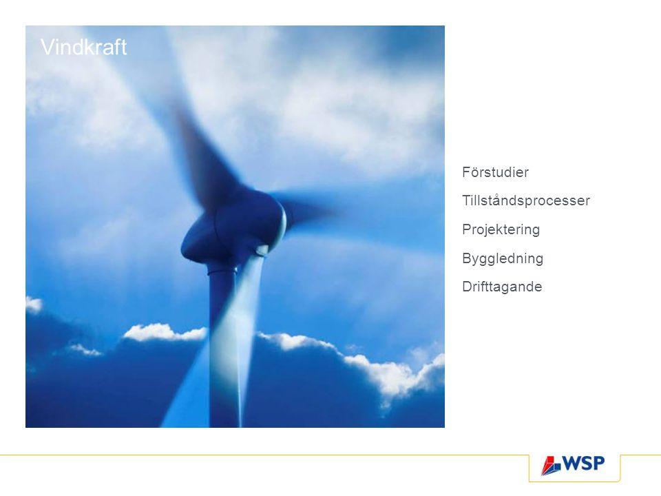 Vindkraft Förstudier Tillståndsprocesser Projektering Byggledning