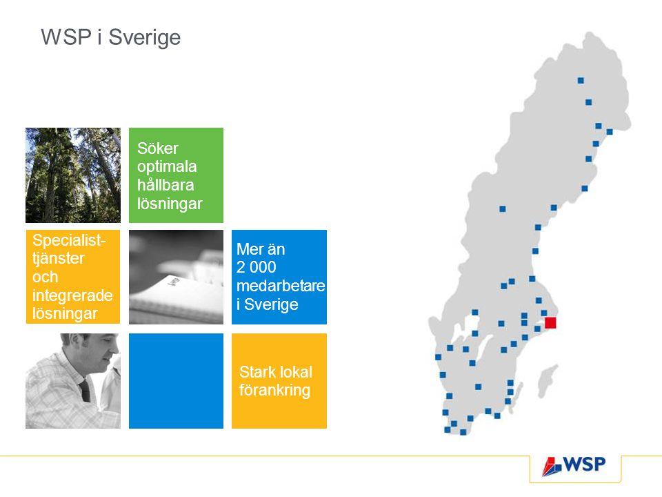 WSP i Sverige Söker optimala hållbara lösningar