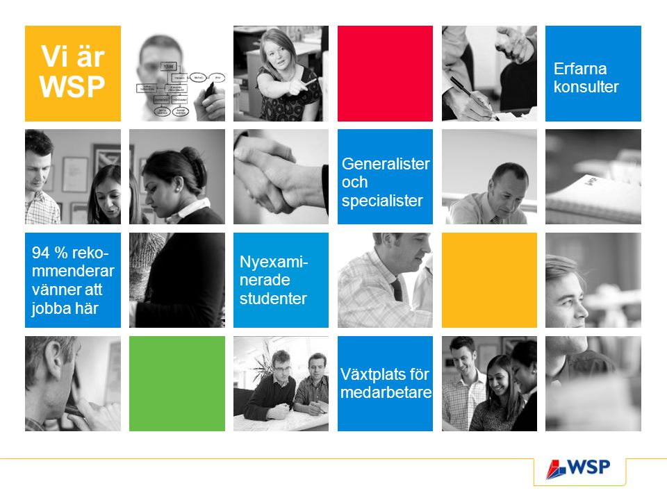 Vi är WSP Erfarna konsulter Generalister och specialister