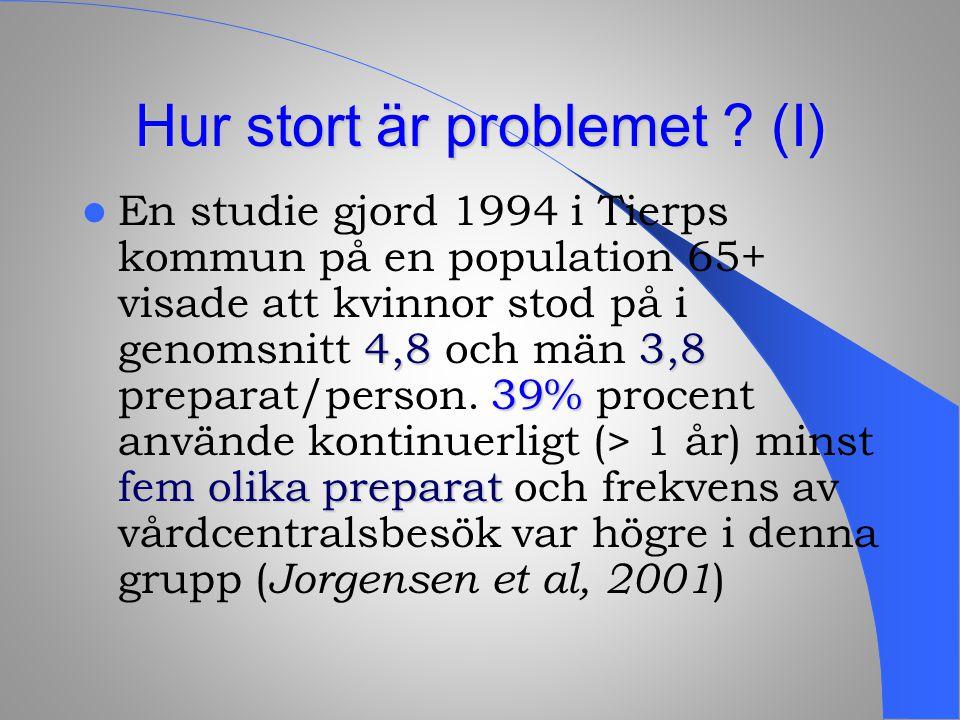 Hur stort är problemet (I)