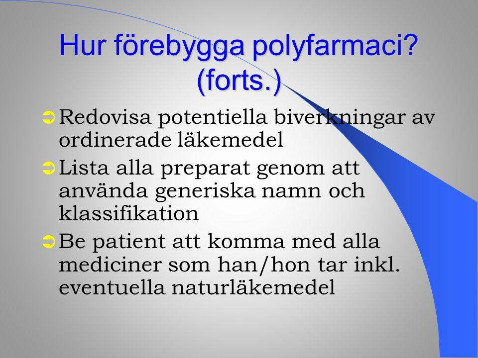 Hur förebygga polyfarmaci (forts.)