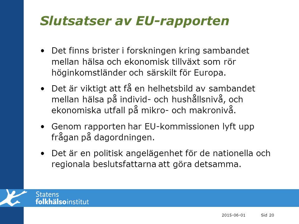 Slutsatser av EU-rapporten