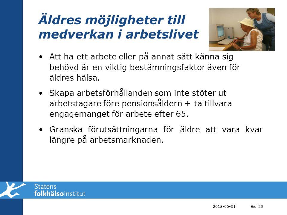 Äldres möjligheter till medverkan i arbetslivet