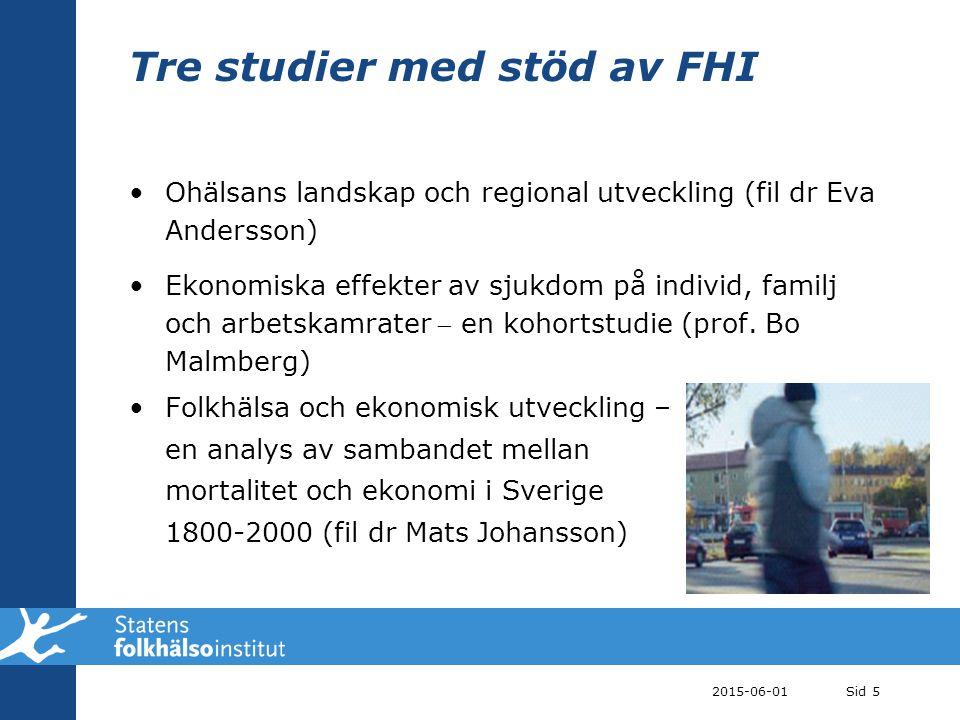 Tre studier med stöd av FHI