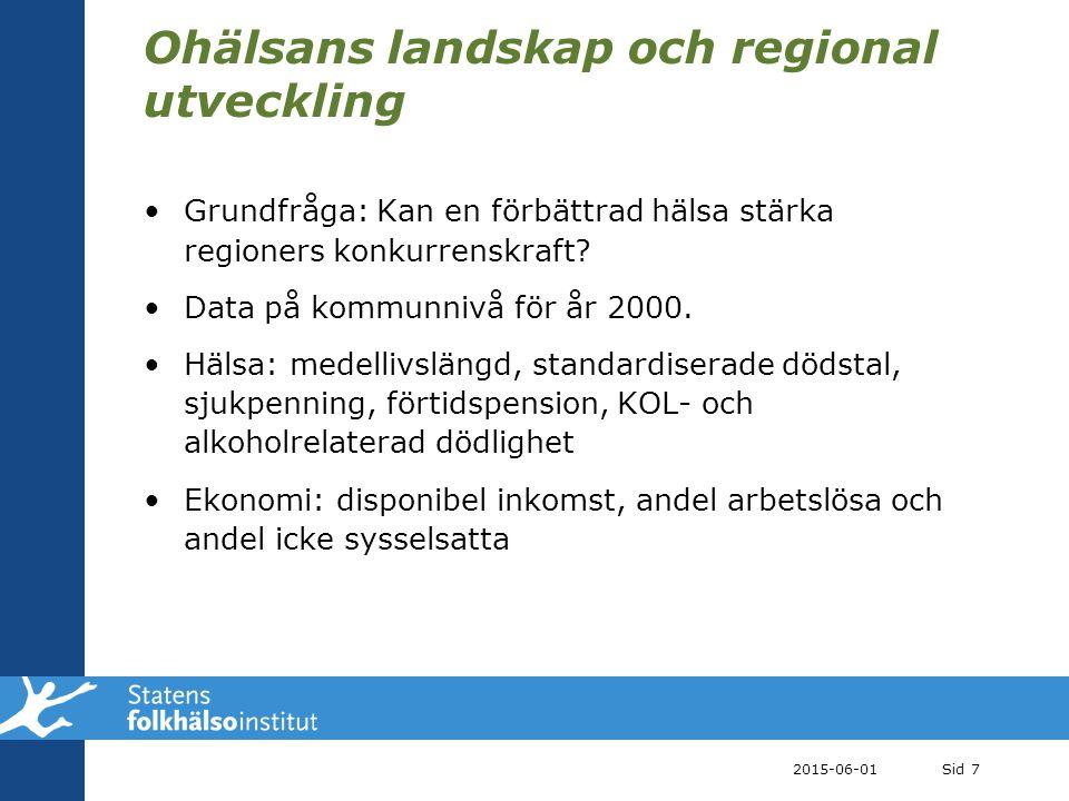 Ohälsans landskap och regional utveckling