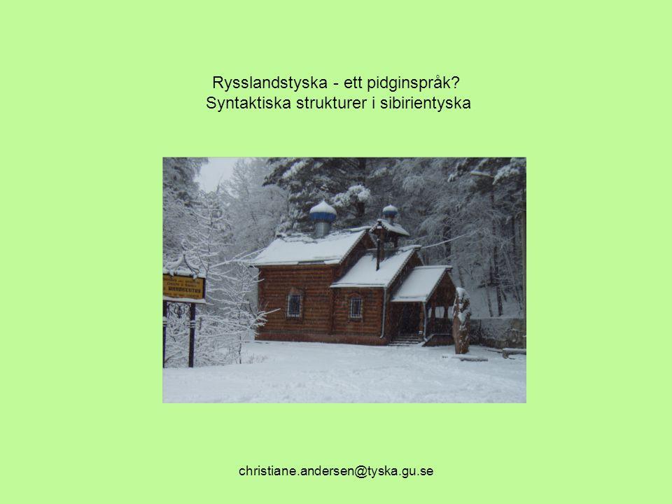 Rysslandstyska - ett pidginspråk