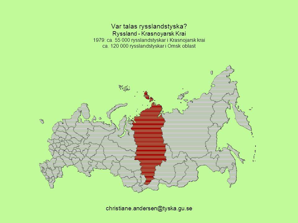 Var talas rysslandstyska. Ryssland - Krasnoyarsk Krai 1979: ca