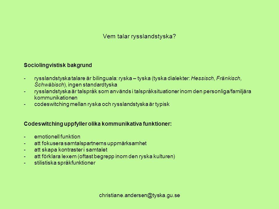 Vem talar rysslandstyska