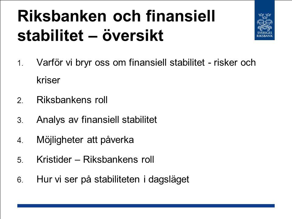 Riksbanken och finansiell stabilitet – översikt