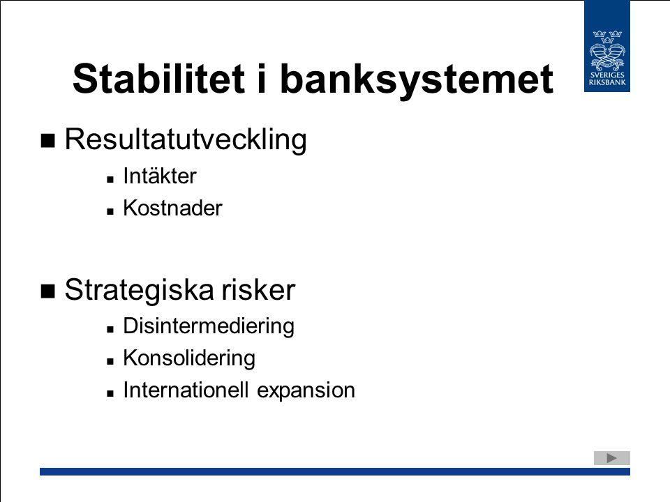 Stabilitet i banksystemet