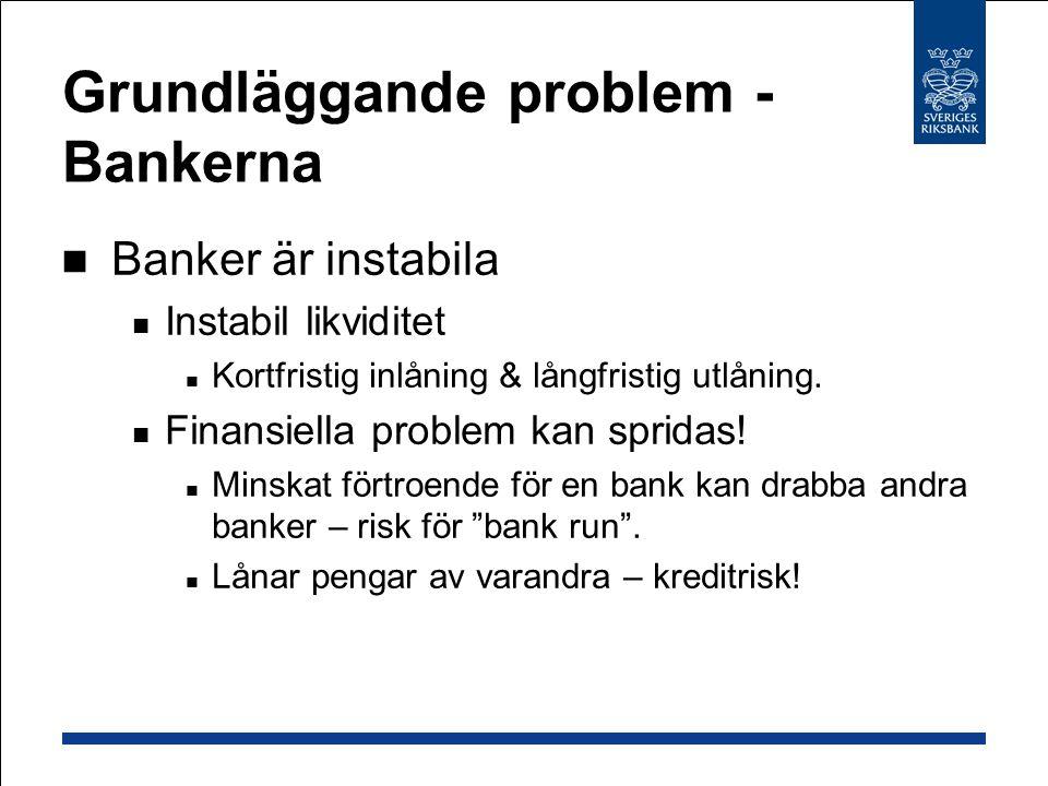 Grundläggande problem - Bankerna