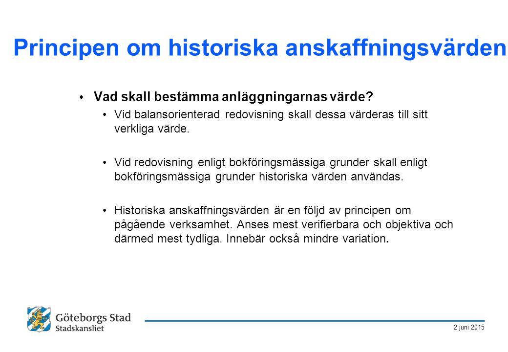 Principen om historiska anskaffningsvärden