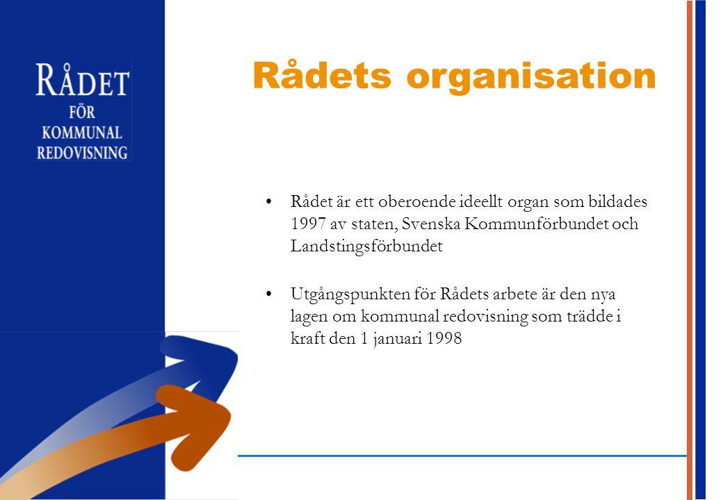 2017-04-16 Rådets organisation. Rådet är ett oberoende ideellt organ som bildades 1997 av staten, Svenska Kommunförbundet och Landstingsförbundet.