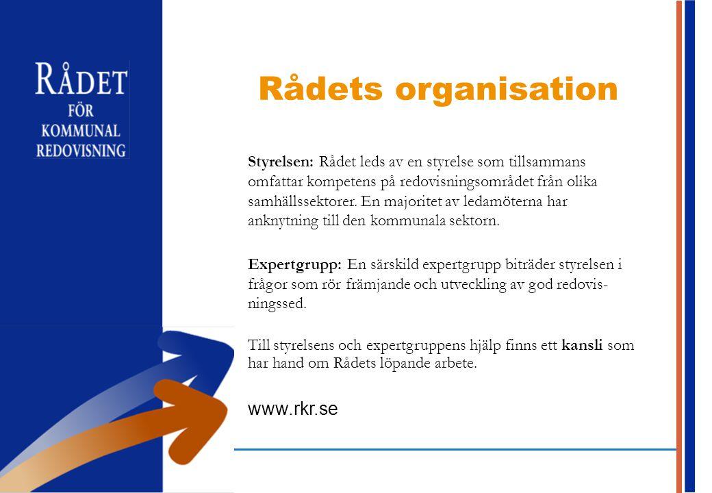 Rådets organisation www.rkr.se
