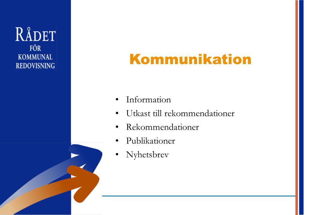 Kommunikation Information Utkast till rekommendationer