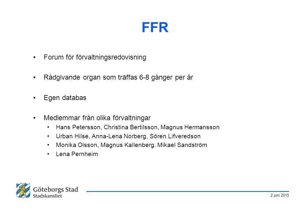 FFR Forum för förvaltningsredovisning