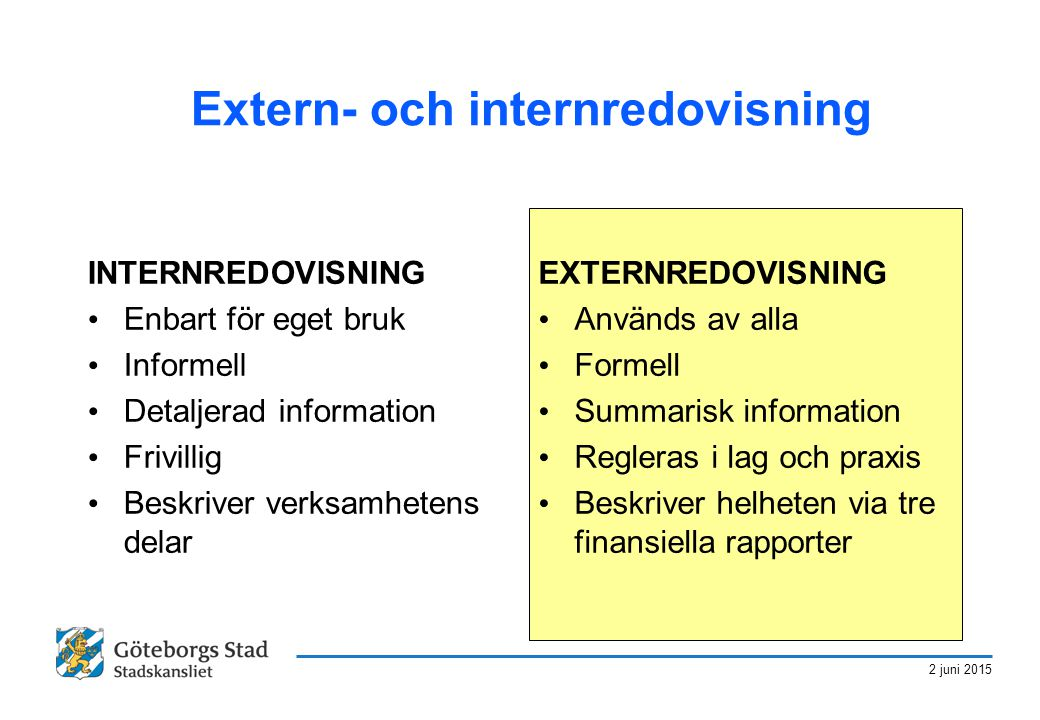 Extern- och internredovisning