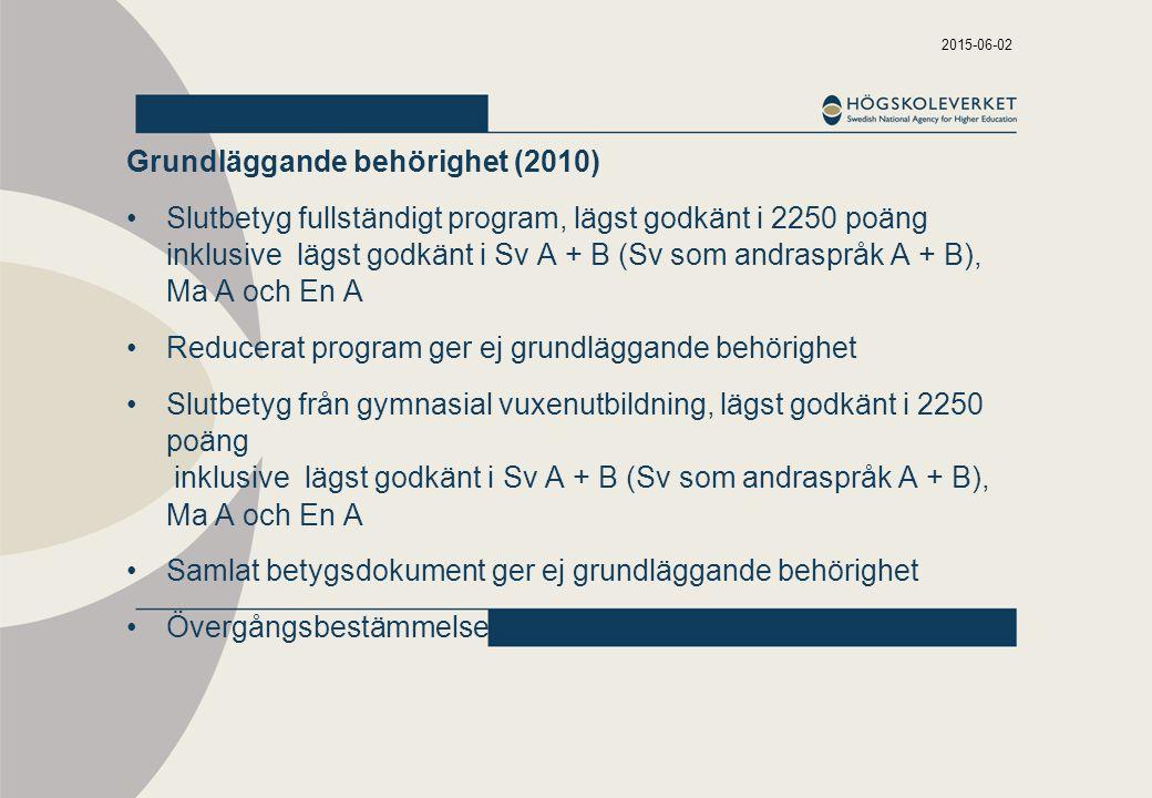 Grundläggande behörighet (2010)