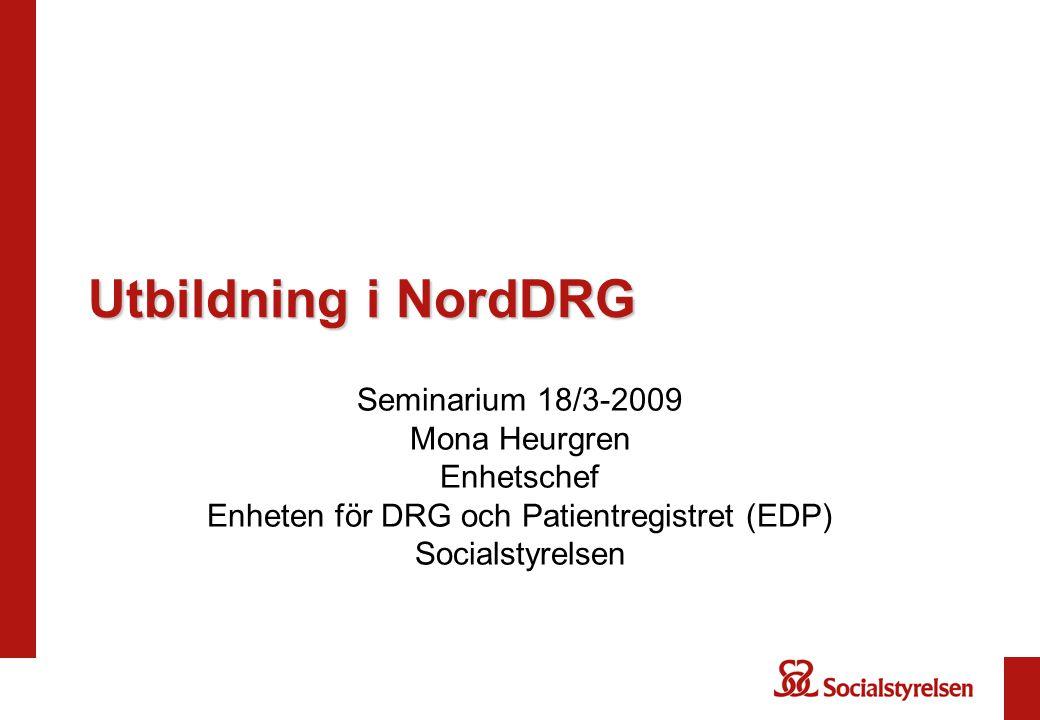 Enheten för DRG och Patientregistret (EDP)