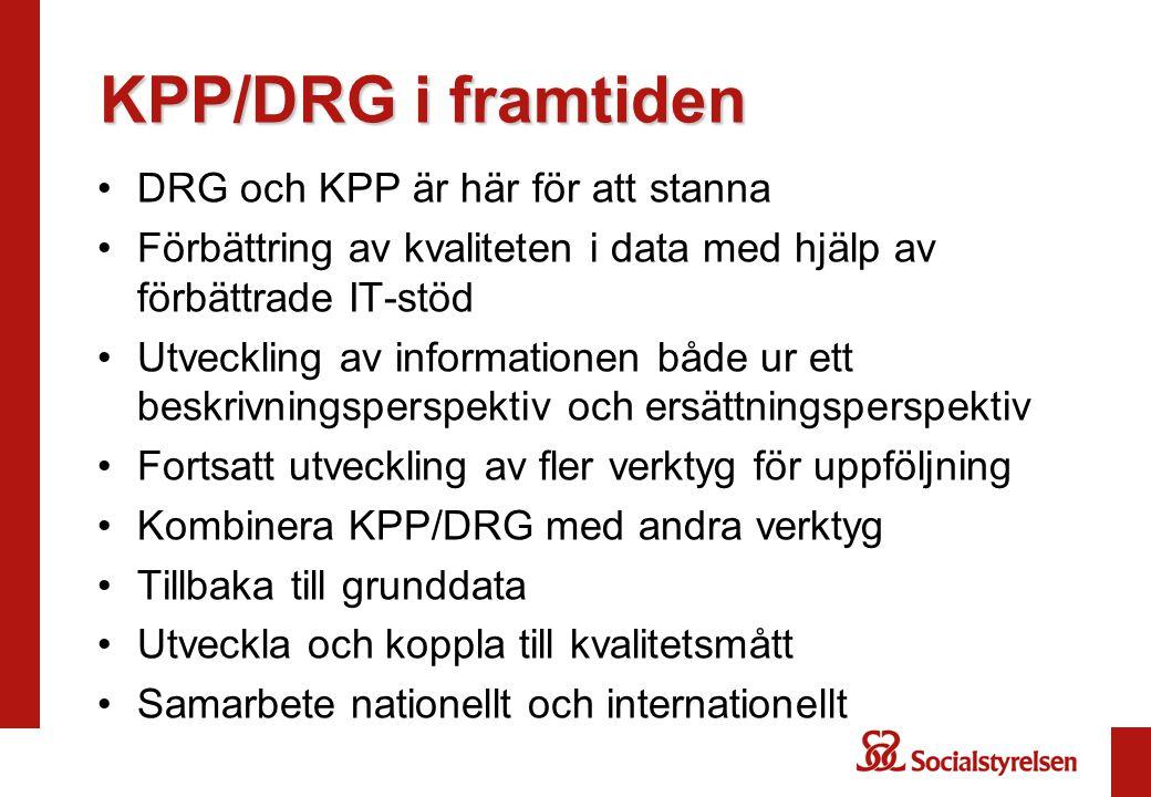 KPP/DRG i framtiden DRG och KPP är här för att stanna