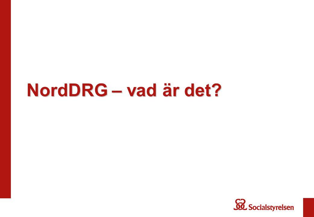 NordDRG – vad är det