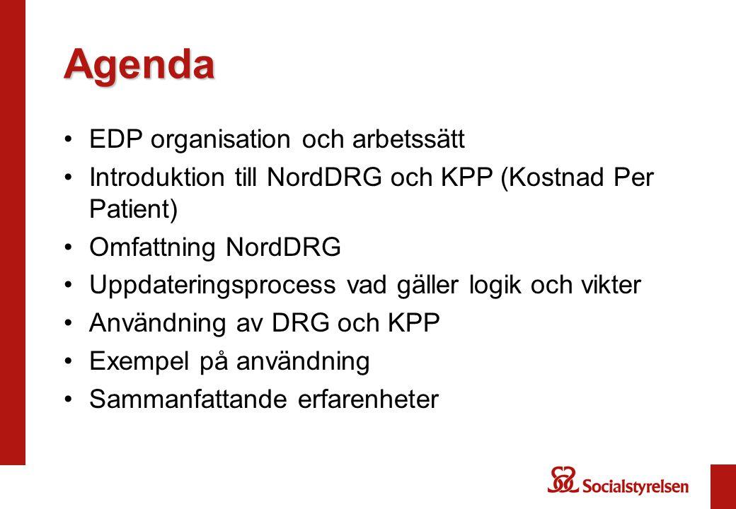 Agenda EDP organisation och arbetssätt