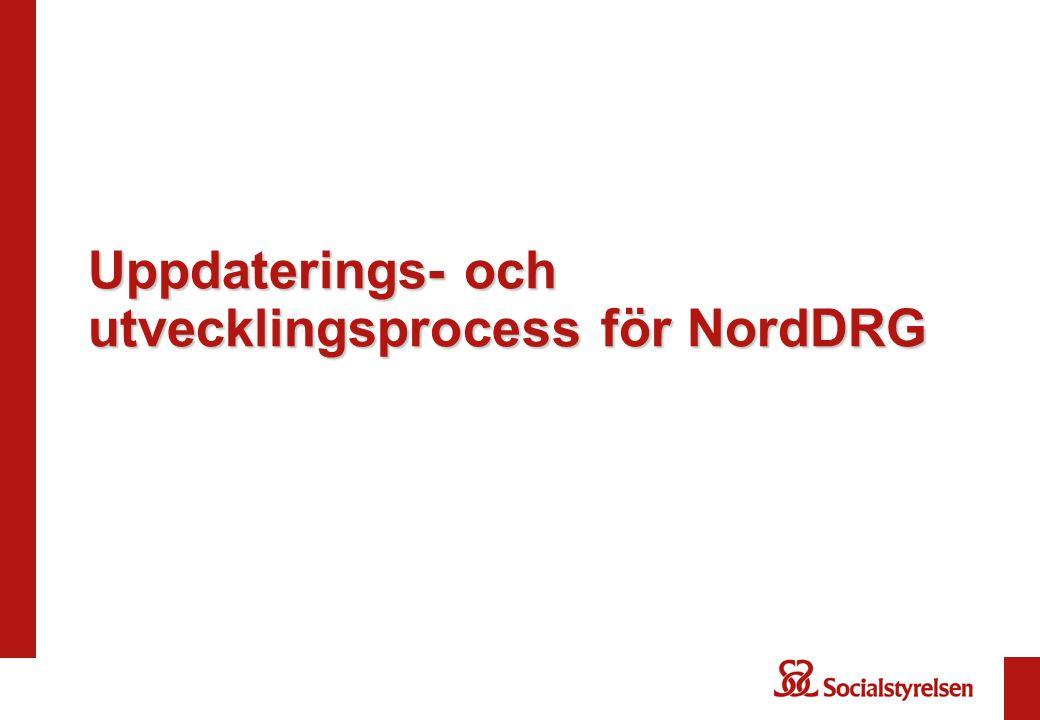 Uppdaterings- och utvecklingsprocess för NordDRG