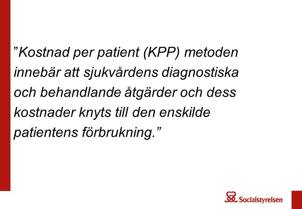 Kostnad per patient (KPP) metoden