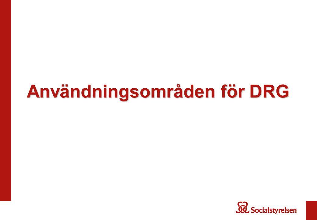 Användningsområden för DRG