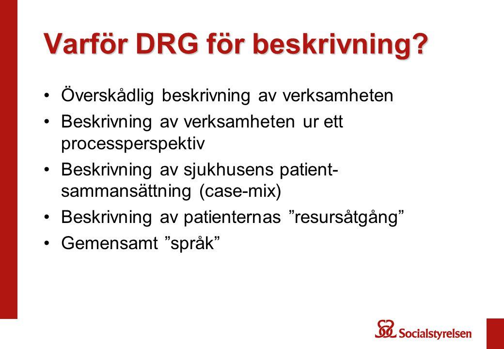 Varför DRG för beskrivning