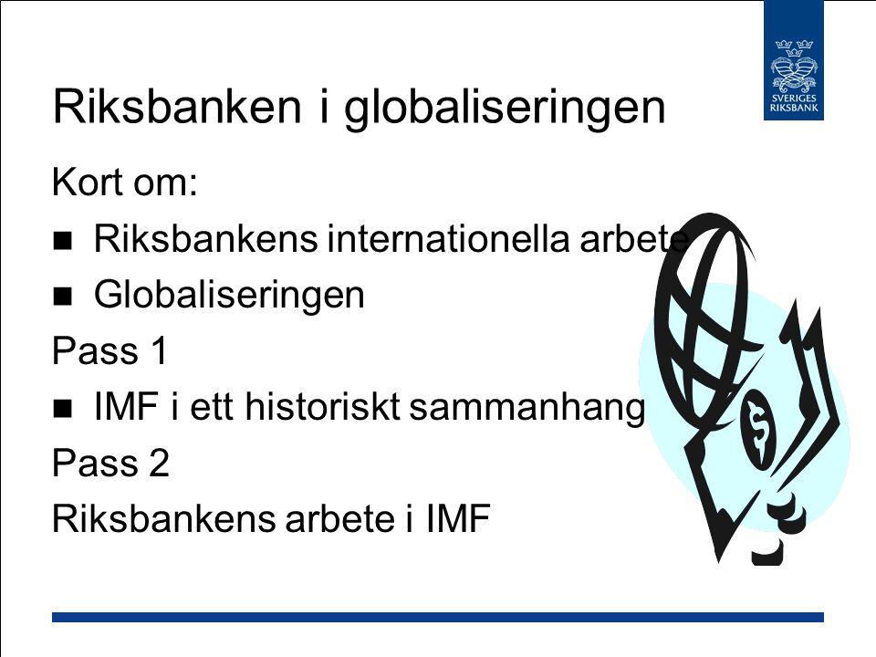 Riksbanken i globaliseringen