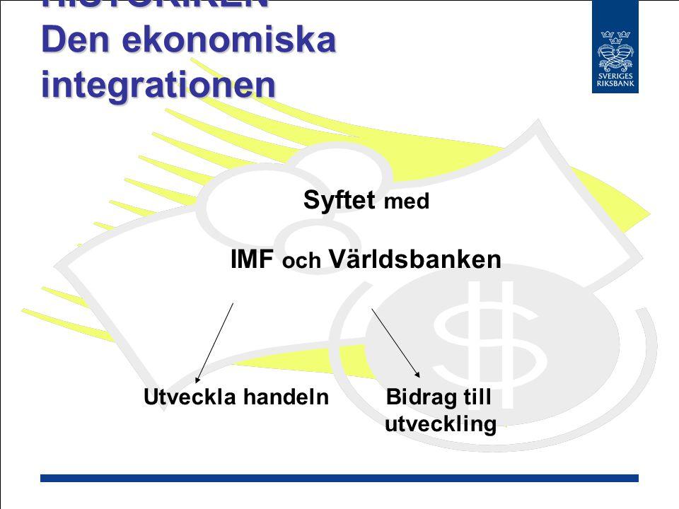HISTORIKEN Den ekonomiska integrationen